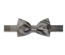 Checked Bow Tie Grey