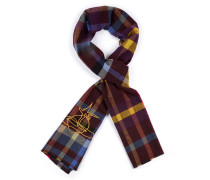 Checked Orb Scarf Wine