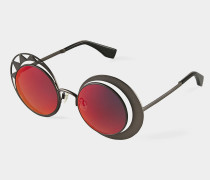 Sun and Moon Sunglasses Red