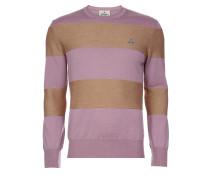Roundneck Knit Beige/Pink Stripes