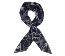 Abstract Orb Scarf Blue