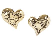 Arabella Heart Earrings Gold Plated