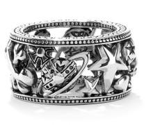 Aaron Ring Oxidised Silver