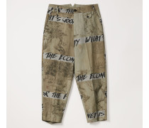 Man Trousers Chinese Drawing Print