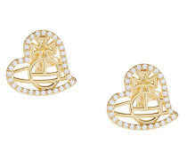 Giuseppa Stud Earrings Gold Tone