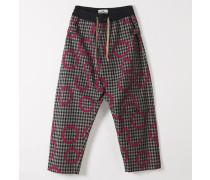 Samurai Trousers Minicheck With Pinocchio Print