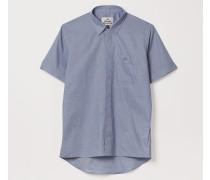 Classic Short Sleeve Shirt Blue Dogtooth