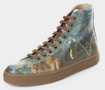 High Top Trainer Paradise Print