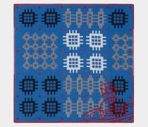 Patchwork Blue Handkerchief