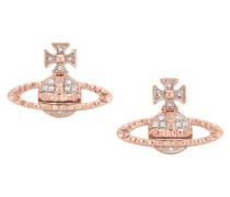 Mayfair Bas Relief Earrings Rose Gold Tone