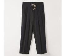 Laurent Trousers Black/Navy Stripes