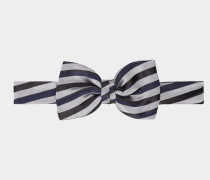 Striped Bow Tie Blue/Grey