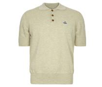 Spring Polo Shirt Cream/Grey Melange