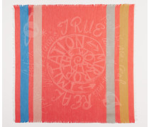 Mirror The World Square Foulard Coral Red