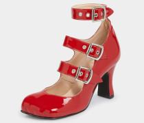 Animal Toe 3-Straps Patent Red