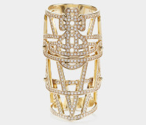 Giuseppa Armour Ring Gold Tone