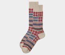 Patchwork Socks Beige