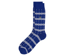 Spots And Stripes Socks Ultramarine