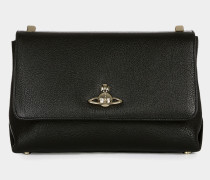Large Balmoral Bag with Flap Black