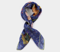 Andreas and Vivienne Floral Orb Foulard Navy