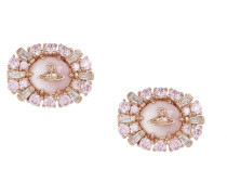 Irina Earrings Pink Gold Tone