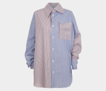 Lottie Shirt Light Blue/Red Stripes