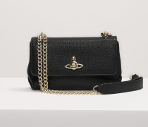 Balmoral Small Bag With Chain And Flap Black