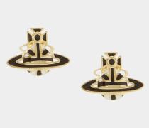Jack Enamel Earrings Gold Plated
