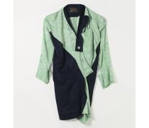 LS ARABESQUE DRESS MINT/NAVY