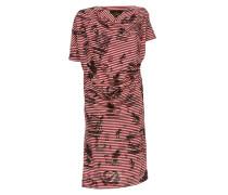 Grateful Print Drape Dress Red