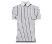 Overlock Polo Shirt Jacquard White/Grey