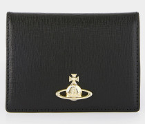 Saffiano Small Card Holder Black