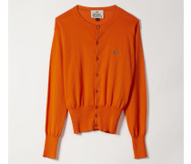 Classic Knit Cardigan Orange