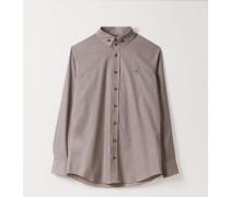 Two Button Krall Shirt Brown Dogtooth