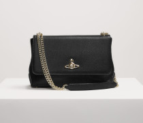 Balmoral Large Bag With Chain And Flap Black