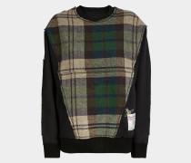Harris Tweed Patchwork Sweater Black