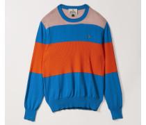 Roundneck Knit Bluette/Pink/Orange Stripes