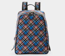 Shuka Tartan Backpack Blue