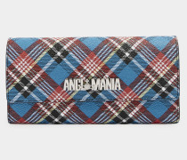 Shuka Tartan Long Wallet Blue