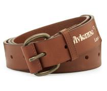 Roller Buckle Brass Belt Brown