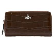 Lisa Zip Round Wallet Brown
