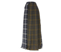 Raw Edge Pleat Skirt Amber on Grey