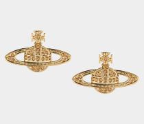 Mini Bas Relief Earrings Gold /Light Topaz