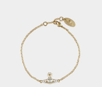 Iris Bas Relief Bracelet Gold Tone