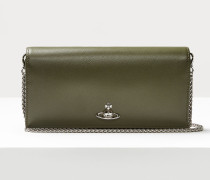 Pimlico Long Wallet With Long Chain Green