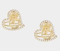 Giuseppa Stud Earrings Gold Tone