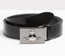 Square Buckle Gun Metal Belt