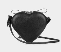 Johanna Heart Crossbody Bag Black