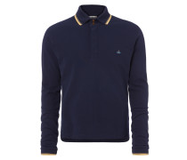 Long Sleeved Polo Shirt Navy
