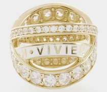 Sterling Silver Aline Ring Gold Tone